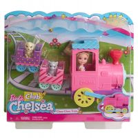 Papusa Chelsea Barbie cu trenulet FRL86