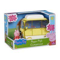 PEP06060_001w Set Peppa Pig, Figurina Peppa cu autorulota
