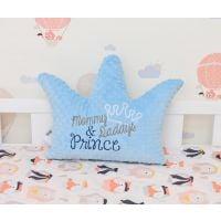 PF141_001 Perna Paturica fermecata, Coronita Minky bleu, Mommy & Daddy's Prince