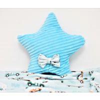 PF149_001 Perna Steluta minky, Paturica Fermecata, bleu cu dungi