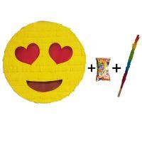 Pinata cu bat si confetti Emoji Inimioare, PinaStar
