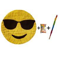 Pinata cu bat si confetti Emoji Ochelari, PinaStar