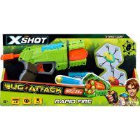 4801 Set X-Shot Bug Attack Rapid Fire cu 8 proiectile si 2 tinte mobile