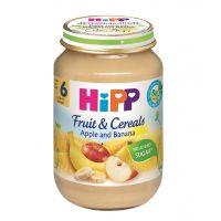 Piure HiPP din cereale, mere si banane,190 g