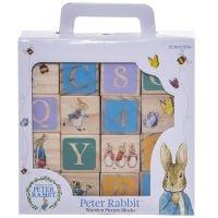 PO1319_001w Joc Peter Rabbit, Cuburi din lemn, 16 piese