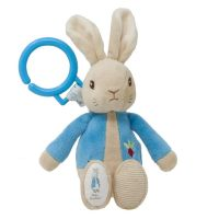 PO1451_001w Jucarie bebelusi agatatoare cu vibratii Peter Rabbit, 22 cm