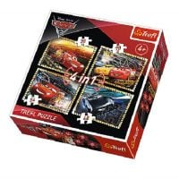 Puzzle Trefl 4 in 1 Carsc - Ready to Race (35, 48, 54, 70 piese)