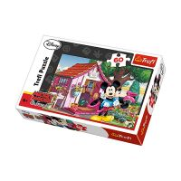 Puzzle Trefl - Mickey si Minnie Mouse, 60 piese