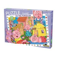 Puzzle Noriel cu povesti 240 de piese - Cei trei purcelusi NOR3089