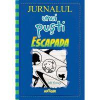 PX1190_001w Carte Editura Arthur, Jurnalul unui pusti 12. Escapada, Jeff Kinney