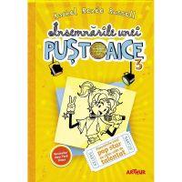 PX1199_001w Carte Editura Arthur, Insemnarile unei pustoaice 3. Povestirile unui pop star, Rachel Renee Russell