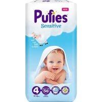 REDIS236_001w Scutece Pufies Sensitive Nr 4, 9 - 14 Kg, 56 buc