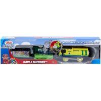 BMK93 GHK77 Locomotiva motorizata cu 2 vagoane si accesorii Thomas and Friends, Raul si Emerson