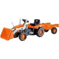 8052_001 Tractor cu pedale, excavator si trailer Dolu, Portocaliu