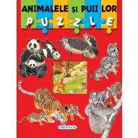 EG0211_001 Carte Puzzle Girasol, Animalele si puii lor