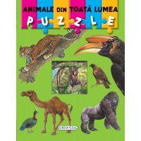 Carte Puzzle Girasol, Animale din toata lumea