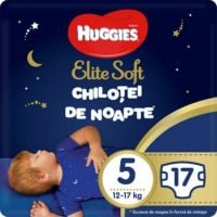 9402662 Scutece Chilotel de nopate Elite Soft Overnight Pants, nr 5, 12-17 kg, 17 buc
