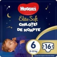 9402663 Scutece Huggies Chilotel de nopate Elite Soft Overnight Pants, nr 6, 15-25 kg, 16 buc