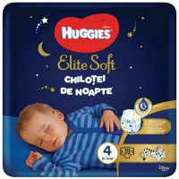 9402661 Scutece Huggies Chilotel de nopate Elite Soft Overnight Pants, nr 4, 9-14 kg, 19 buc
