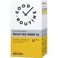 SECOM-200011_001w Daily-D3 2000IU, 60 capsule gelatinoase, Good Routine, Secom