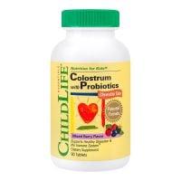 SECOM-CL11100_001w Colostrum plus Probiotics, 90 Tablete masticabile, Childlife Essentials, Secom