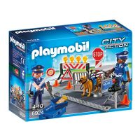 Set de constructie Playmobil City Action - Blocaj rutier al politiei (6924)