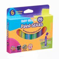 Set batoane de colorat Little Brian, 6 culori luminoase LBPS10DA6