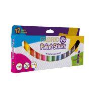 Set batoane de colorat Little Brian pentru tesaturi, 12 culori clasice LBPS10FA12