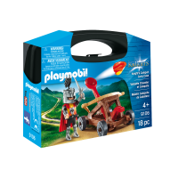 Set portabil Playmobil Knights - Caveler cu catapulta (9106)