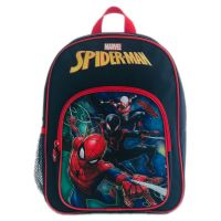 SPN12201_001w Ghiozdan mini Spiderman, 2 compartimente