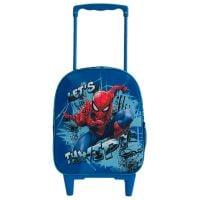 SPN50301_001w Ghiozdan 3D mini tip troler Spiderman