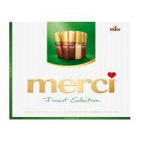 STKMERV250_001w Praline de ciocolata asortata Merci, Verde, 250 g