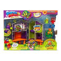 SZ9001_001w Set de joaca cu 2 figurine SuperZings, Laboratorul secret