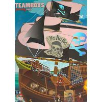 Carte de colorat Corabii Pirati Girasol - Colectia Teamboys