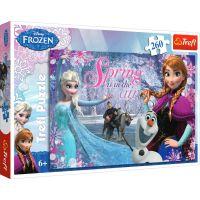 TF13195_Puzzle Trefl 260 piese, Dragoste in tinutul de gheata, Disney Frozen