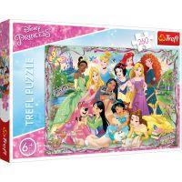 Puzzle Trefl 260 piese, Intalnirea printeselor, Disney Princess