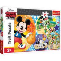 TF14291_001w Puzzle Maxi Trefl, Mickey Mouse, E timpul pentru sport, 24 piese