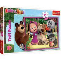 TF14301_001w Puzzle Maxi Trefl, Masha si Ursul, 24 piese