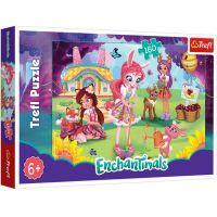 TF15361_001w Puzzle Trefl, Enchantimals, Danessa si Felicy in gradina, 160 piese