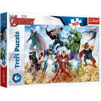 TF15368_001w Puzzle Trefl, Avengers, Gata pentru a salva lumea, 160 piese