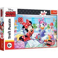 Puzzle Trefl 160 piese, O zi cu prietena cea mai buna, Disney Minnie Mouse