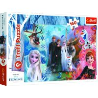 Puzzle Trefl 160 piese, Vreau sa cred in vise, Disney Frozen 2