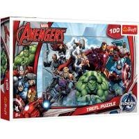 TF16272_001w Puzzle Trefl, Avengers, La atac! 100 piese