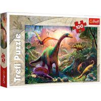 TF16277_001w Puzzle Trefl, Tinutul dinozaurilor, 100 piese