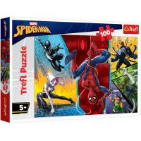TF16347_001w Puzzle Trefl, Spiderman, Cu susul in jos, 100 piese
