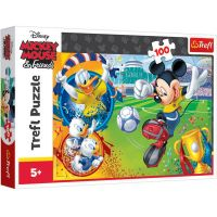 TF16353_001w Puzzle Trefl, Mickey Mouse pe teren, 100 piese