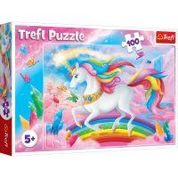 Puzzle Trefl 100 piese, In lumea de cristal a unicornilor