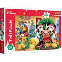 TF16365_001w Puzzle Trefl, Mickey Mouse, Magia Craciunului, 100 piese