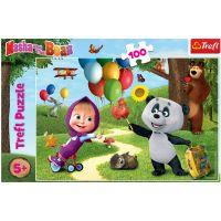TF16370_001w Puzzle Trefl 100 piese, Masha si prietenii