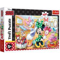 TF16387_001w Puzzle Trefl, Minnie Mouse la salonul de infrumusetare, 100 piese